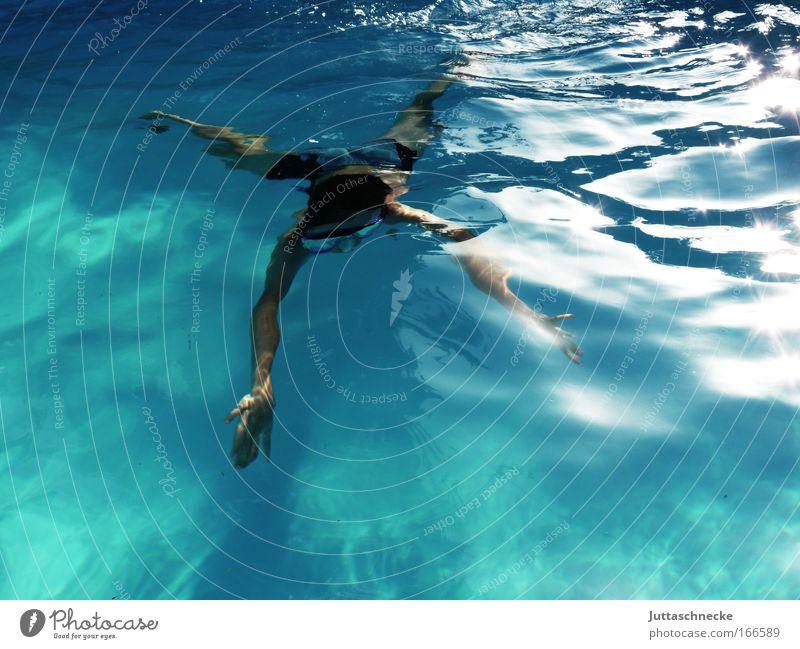 Evolution Mensch Wasser Sommer Sport Zufriedenheit Wellen Gesundheit frei frisch Schwimmbad tauchen Schwimmen & Baden Unendlichkeit Kindheit Mut harmonisch