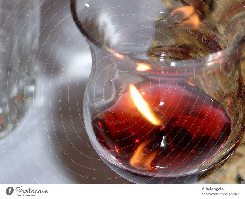 Kerze Glas Kerze nah