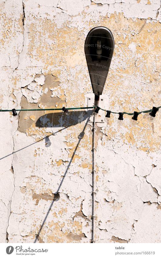 Dienstvilla alt Haus Wand Gebäude Stein Mauer Metall Glas Fassade Beton modern Energiewirtschaft Kabel Häusliches Leben Technik & Technologie Fabrik