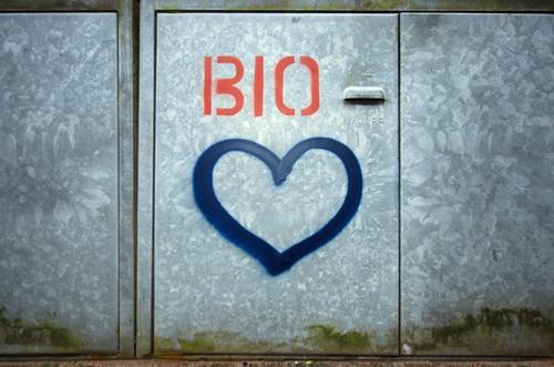 pure love Lebensmittel Ernährung Essen Bioprodukte Vegetarische Ernährung Lifestyle kaufen Reichtum sparen Umwelt Natur Zeichen Graffiti Herz nachhaltig