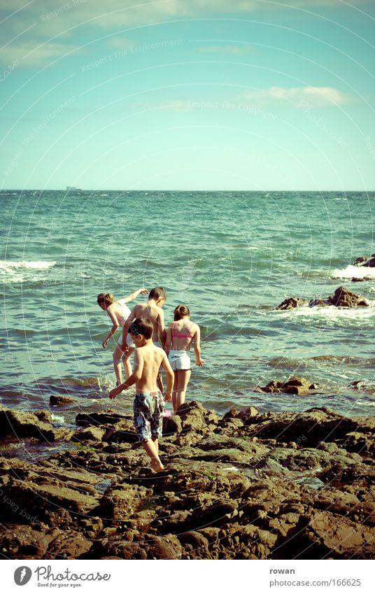 baden! Mensch Kind Jugendliche Mädchen Meer Sommer Strand Ferien & Urlaub & Reisen Leben Junge Spielen Menschengruppe See Wellen Küste