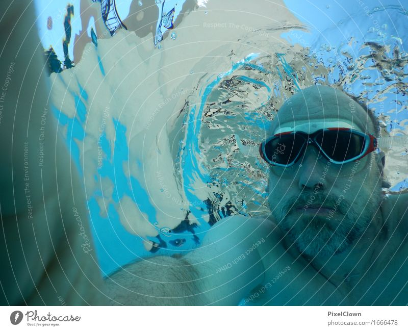 abtauchen Mensch Ferien & Urlaub & Reisen Mann blau Sommer schön Wasser Meer Freude Erwachsene Sport Lifestyle Schwimmen & Baden Tourismus maskulin