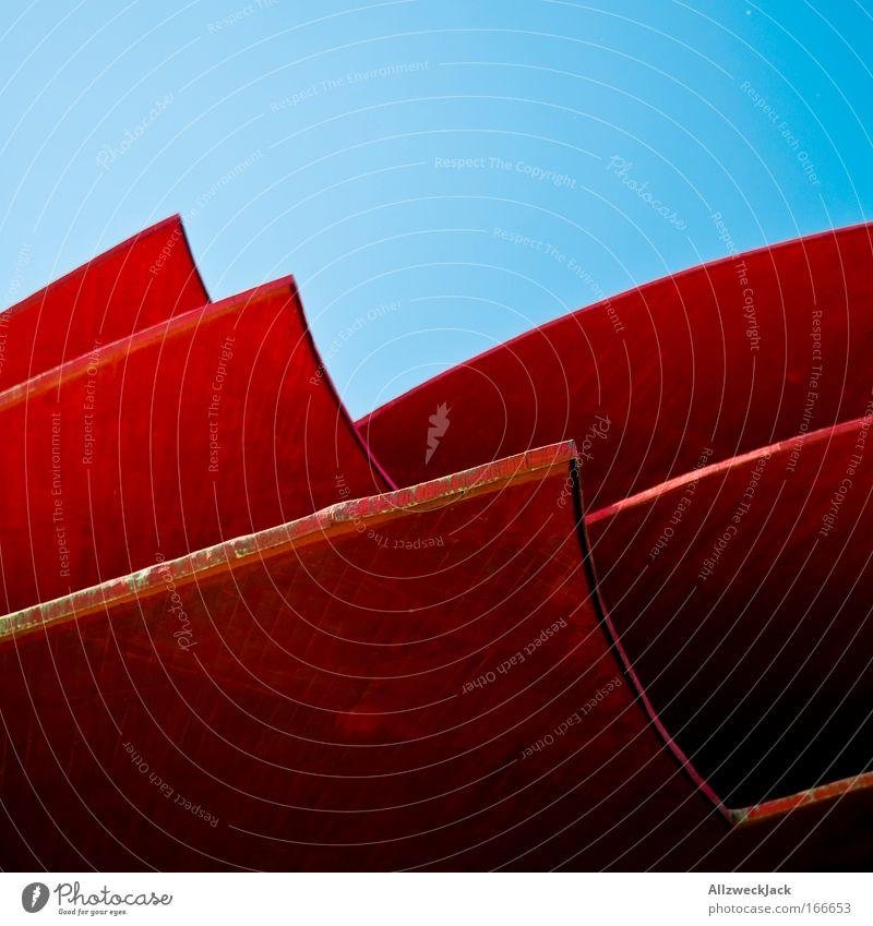 Neptuns Zorn blau rot Wand Berge u. Gebirge Mauer Wellen elegant ästhetisch rund Dach Kultur Flüssigkeit Theater Sehenswürdigkeit Potsdam