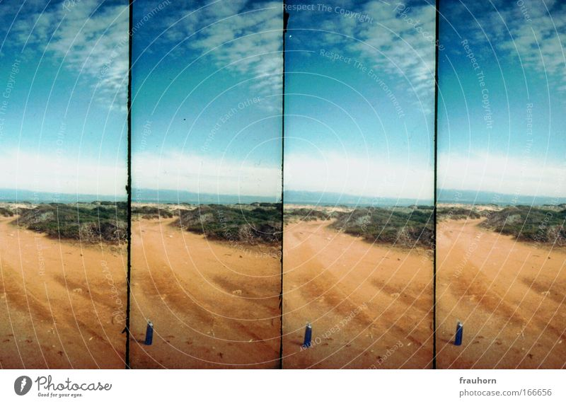 flasche leer Himmel Natur Wasser Ferien & Urlaub & Reisen Sommer Wolken Landschaft Wärme Sand Küste Horizont Erde Insel Vergänglichkeit Schönes Wetter ausdruckslos