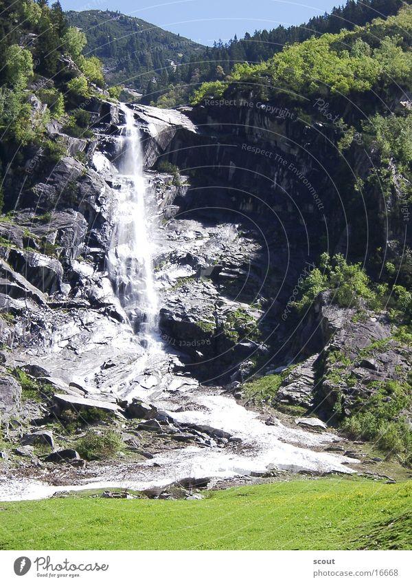 Wasserfall Berge u. Gebirge Wasserfall