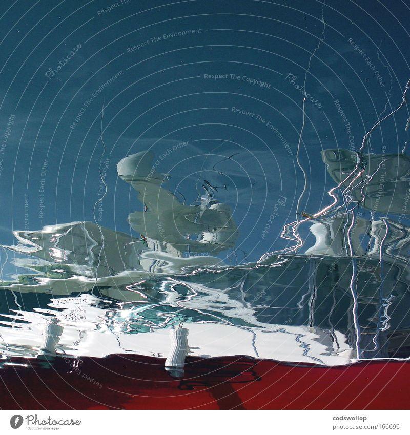 allwellenantenne Wasser Meer Wasserfahrzeug Schwimmen & Baden Hafen tauchen Flüssigkeit Schifffahrt abstrakt Im Wasser treiben Reflexion & Spiegelung Spiegelbild Fischerboot Hafenstadt Bootsfahrt Jachthafen