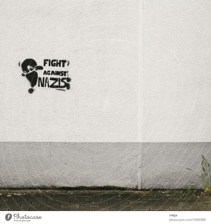 irgendwo und überall Lifestyle Stil Subkultur Straßenkunst Menschenleer Fassade Wand Zeichen Schriftzeichen Graffiti Gefühle Stimmung Angst Zukunftsangst
