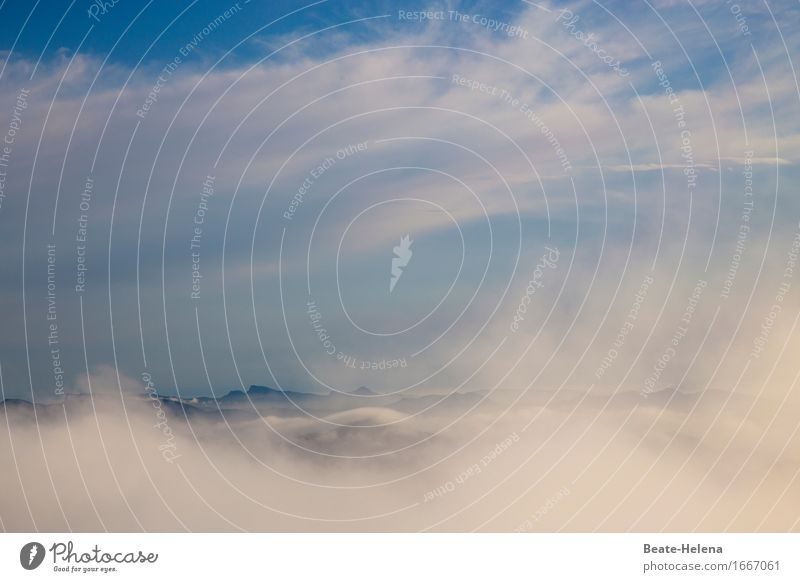 Es wird immer klarer Ferien & Urlaub & Reisen Ausflug Natur Landschaft Luft Wasser Himmel Wolken Sonnenaufgang Sonnenuntergang Sommer Nebel Hügel Küste