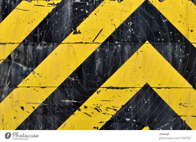 //\ schwarz gelb Stil Metall Linie Hintergrundbild dreckig Schilder & Markierungen Design Verkehr Erfolg Hinweisschild Industriefotografie
