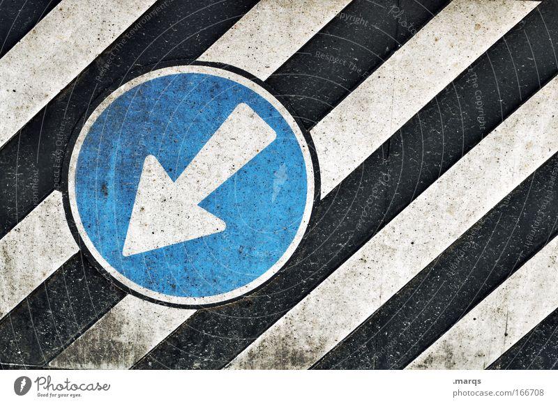 Go blau weiß schwarz Stil Linie dreckig Schilder & Markierungen Ordnung Design Verkehr außergewöhnlich Streifen fahren Hinweisschild einfach