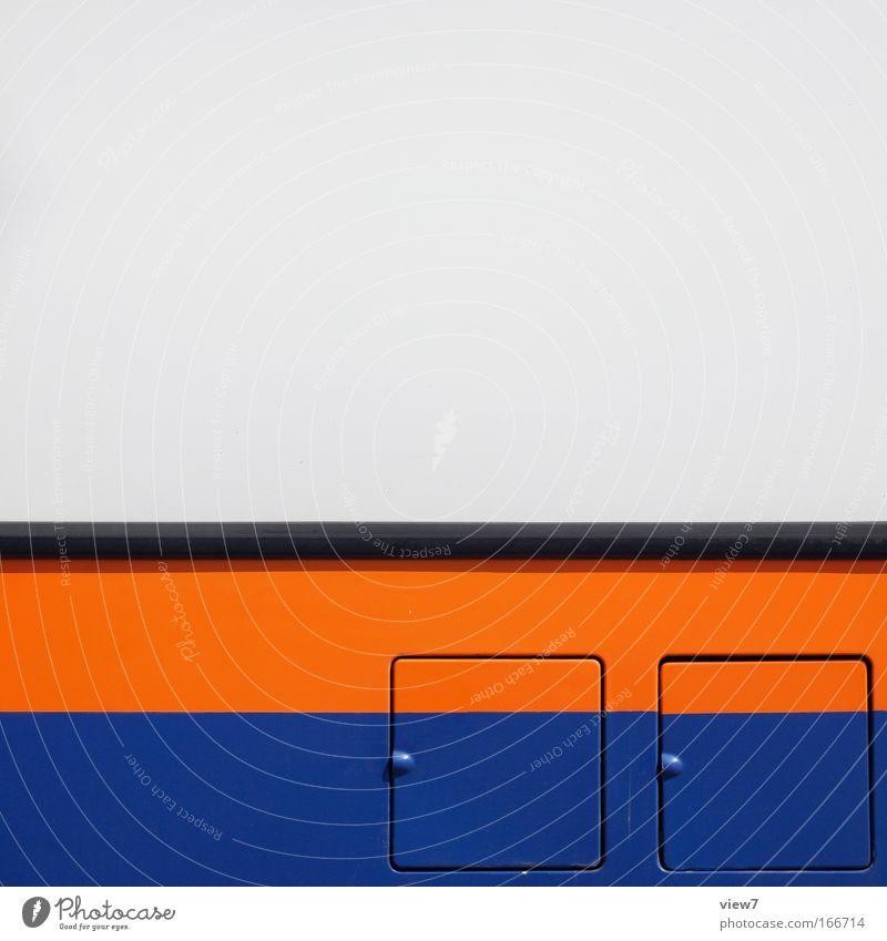Auswahl schön weiß blau orange Metall elegant ästhetisch Güterverkehr & Logistik gut Streifen Lastwagen unten Stahl Mobilität Maschine Bus