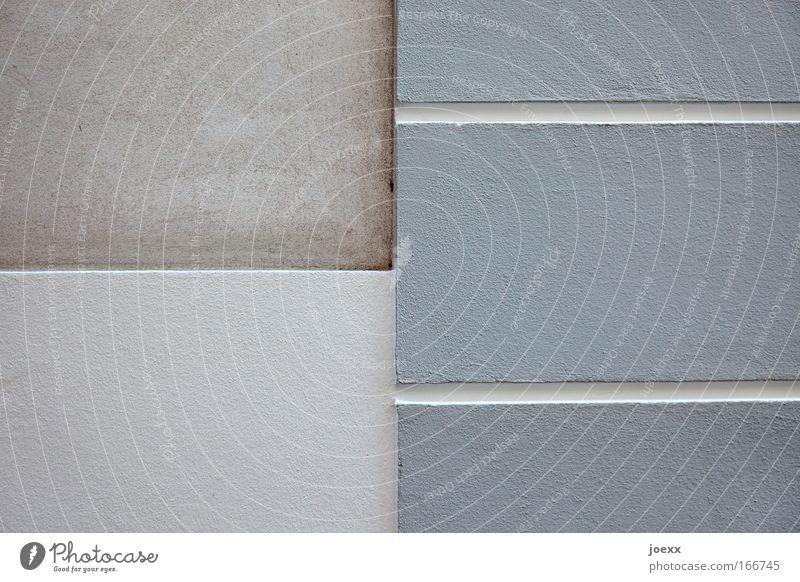 –|= Haus Wand grau Mauer Gebäude Linie Streifen Bauwerk horizontal Putzfassade