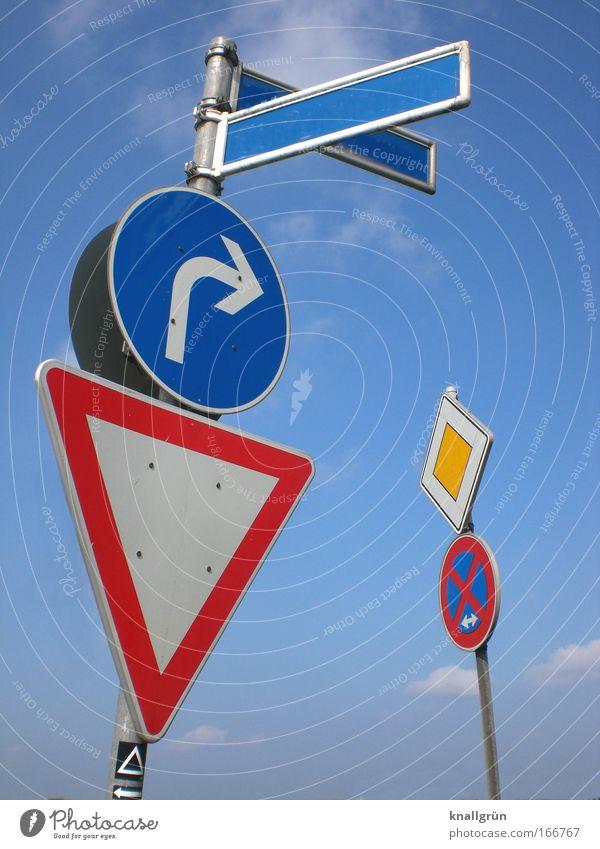 Vorschriftsmäßig weiß blau rot gelb Gesetze und Verordnungen Metall Schilder & Markierungen Verkehr Sicherheit Ordnung Zeichen Hinweisschild silber Verbote