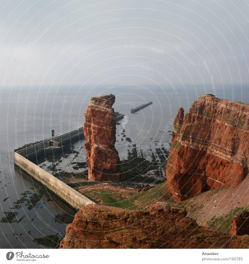 Jaaaa, sie steht noch... Lange Anna auf Helgoland Natur Wasser rot Strand Ferien & Urlaub & Reisen Berge u. Gebirge Landschaft Umwelt Stein Ausflug Felsen