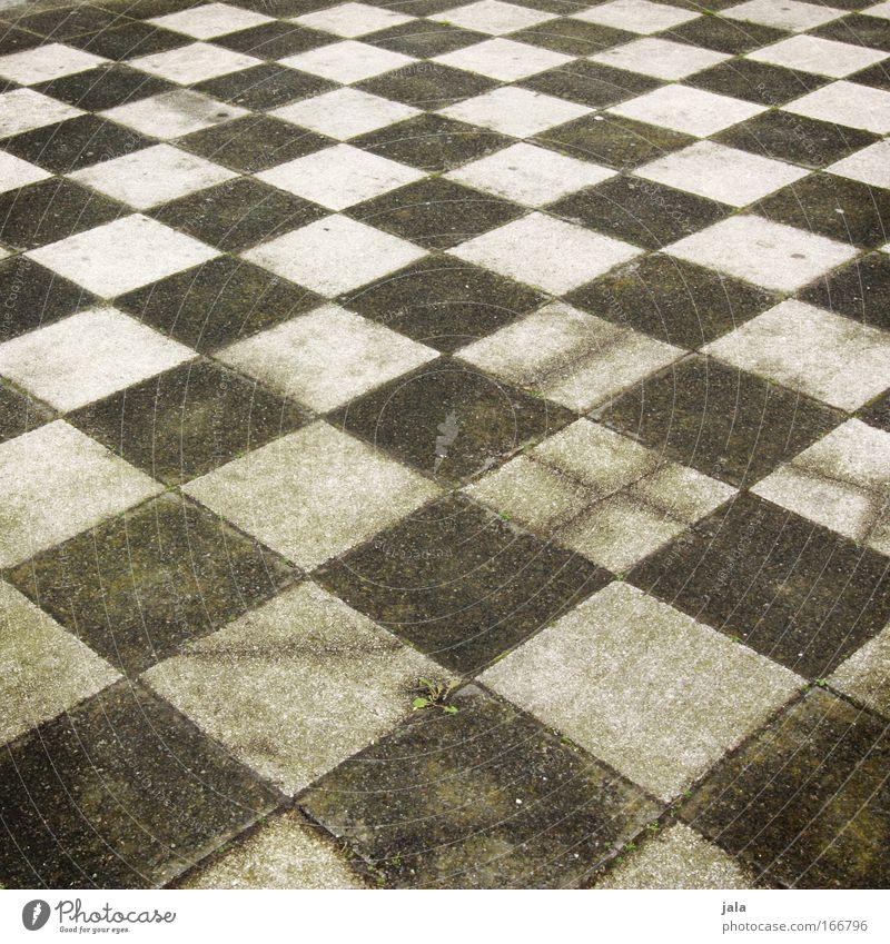 chequered II Gedeckte Farben Außenaufnahme Menschenleer Tag Ludwigshafen Platz eckig grün schwarz weiß Muster Schach kariert Fliesen u. Kacheln Beton Stein