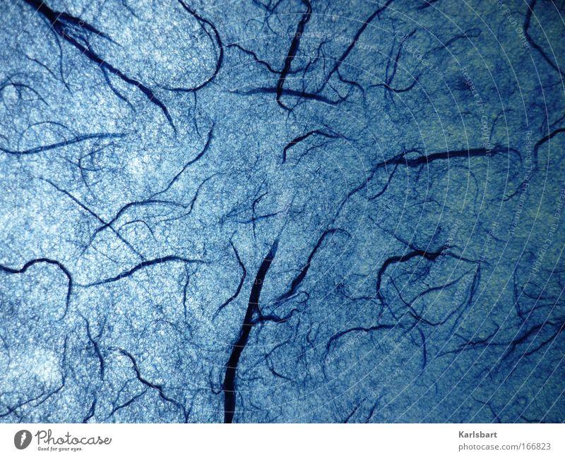 organism. Natur blau dunkel kalt Stil träumen Kunst Hintergrundbild Design Umwelt verrückt Papier modern fantastisch Wissenschaften Lebewesen