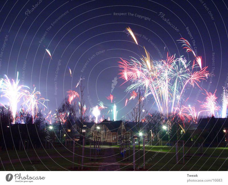 silvester 03 Silvester u. Neujahr Recklinghausen Langzeitbelichtung Club Party Feuerwerk Lichterscheinung