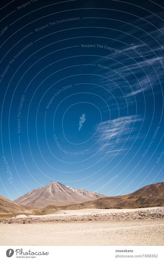 Volcan Miñiques Chile Himmel Ferien & Urlaub & Reisen blau Wolken Gipfel Schneebedeckte Gipfel Wüste Höhe Vulkan Blauer Himmel Chile himmelblau karg Wolkenband