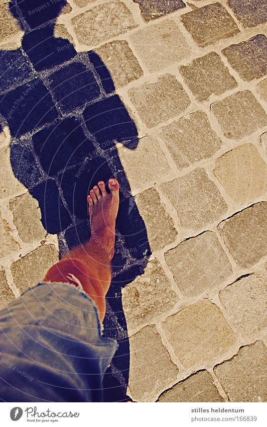 Always one foot on the ground Mensch Jugendliche Junger Mann Beine Fuß maskulin Zufriedenheit Glaube