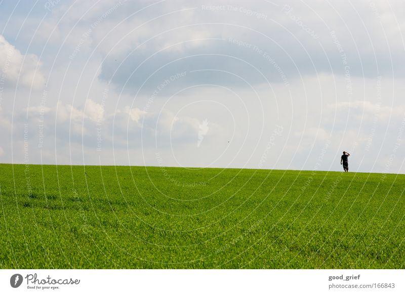 ausschau halten Farbfoto mehrfarbig Außenaufnahme Textfreiraum links Textfreiraum oben Textfreiraum unten Tag Sonnenlicht Sonnenstrahlen Panorama (Aussicht)