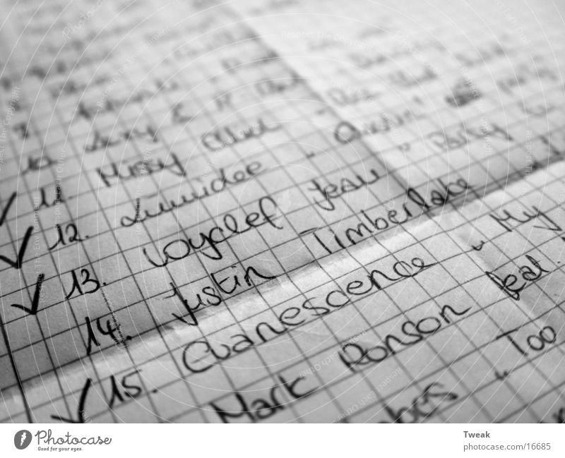 wünsche Zettel Papier Dinge justin Schriftzeichen Makroaufnahme Schwarzweißfoto