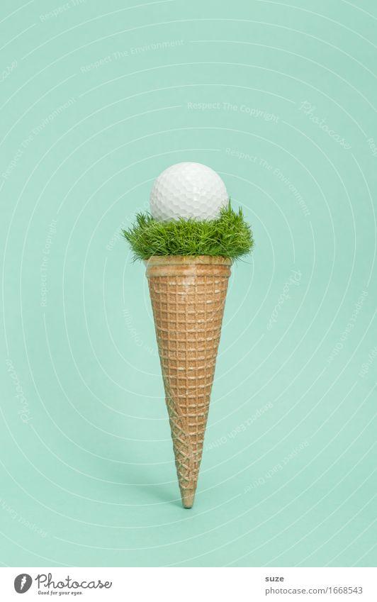 Abschlag Lebensmittel Speiseeis Ernährung Essen Fastfood Design Freude Spielen Feste & Feiern Sport Ballsport Sportveranstaltung Erfolg Golf Gastronomie