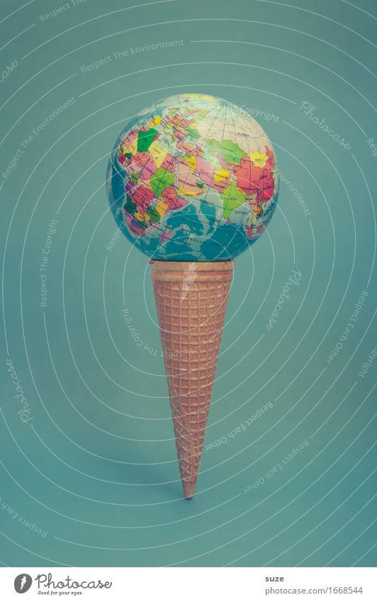 Allerwelts Geschmack Lebensmittel Speiseeis Ernährung Fastfood Design Freude Gesunde Ernährung Übergewicht Ferien & Urlaub & Reisen Ball Erde Zeichen Globus
