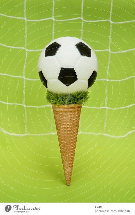 EM Eis + Topping Essen Fastfood Design Freude Spielen Feste & Feiern Sport Ballsport Sportveranstaltung Erfolg Fußball Fußballplatz Gastronomie Netz Fitness
