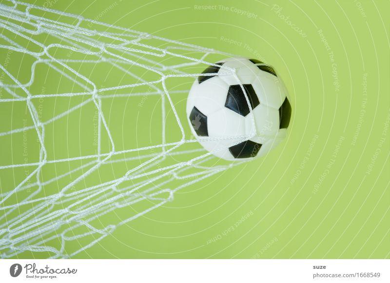 Tooooooor! Design Freude Freizeit & Hobby Spielen Feste & Feiern Sport Ballsport Sportveranstaltung Erfolg Fußball Fußballplatz Team Leder Netz Bewegung Fitness