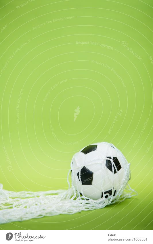 Eigentor grün Freude Sport Spielen Feste & Feiern Deutschland Design Freizeit & Hobby Erfolg einfach Fußball Fitness rund Ziel Netzwerk