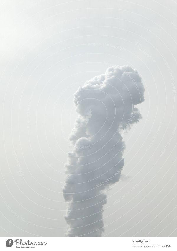 Phallus-Symbol Himmel weiß Wolken Kraft groß Wasserdampf