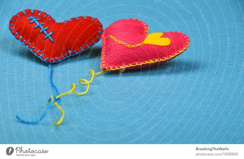 blau rot gelb Liebe Kunst Zusammensein rosa Freizeit & Hobby Kreativität Herz Geschenk Romantik weich Hochzeit nah Spielzeug