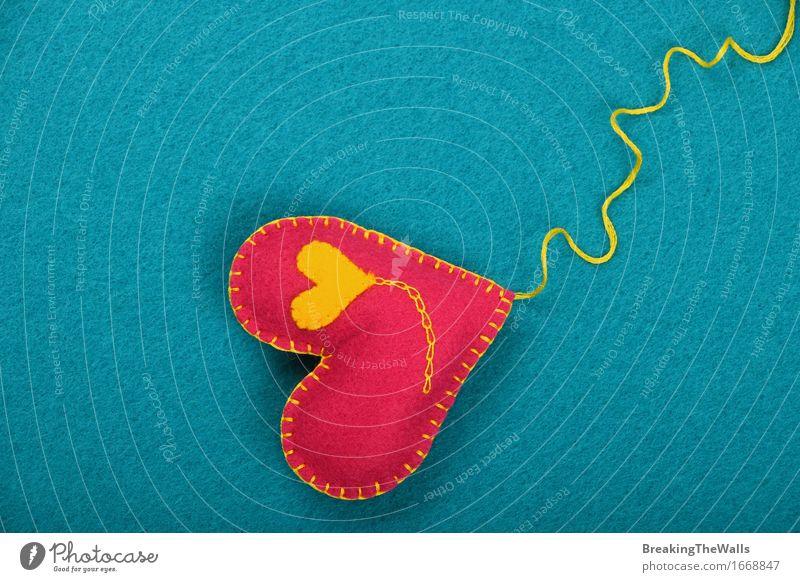blau gelb Liebe Kunst rosa Freizeit & Hobby Kreativität Herz Geschenk Romantik weich Ostern Spielzeug Kunstwerk Valentinstag Wolle