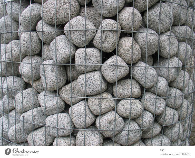 Rolling Stones Strukturen & Formen Kieselsteine Zierstein Gitter grau Stein Steinblock