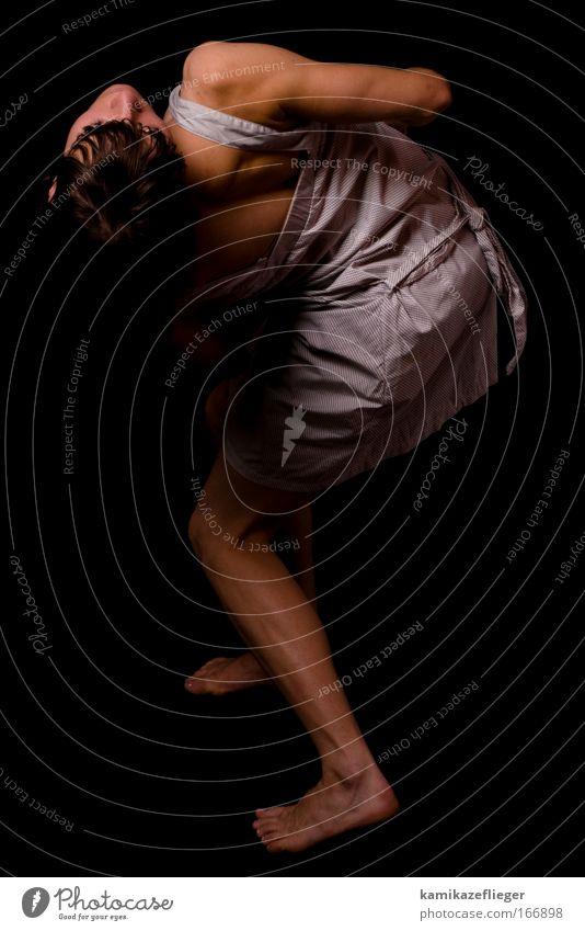 fragezeichen Mensch Jugendliche schön Erwachsene feminin Bewegung Stimmung Kraft natürlich außergewöhnlich ästhetisch 18-30 Jahre einzigartig Junge Frau Kleid dünn
