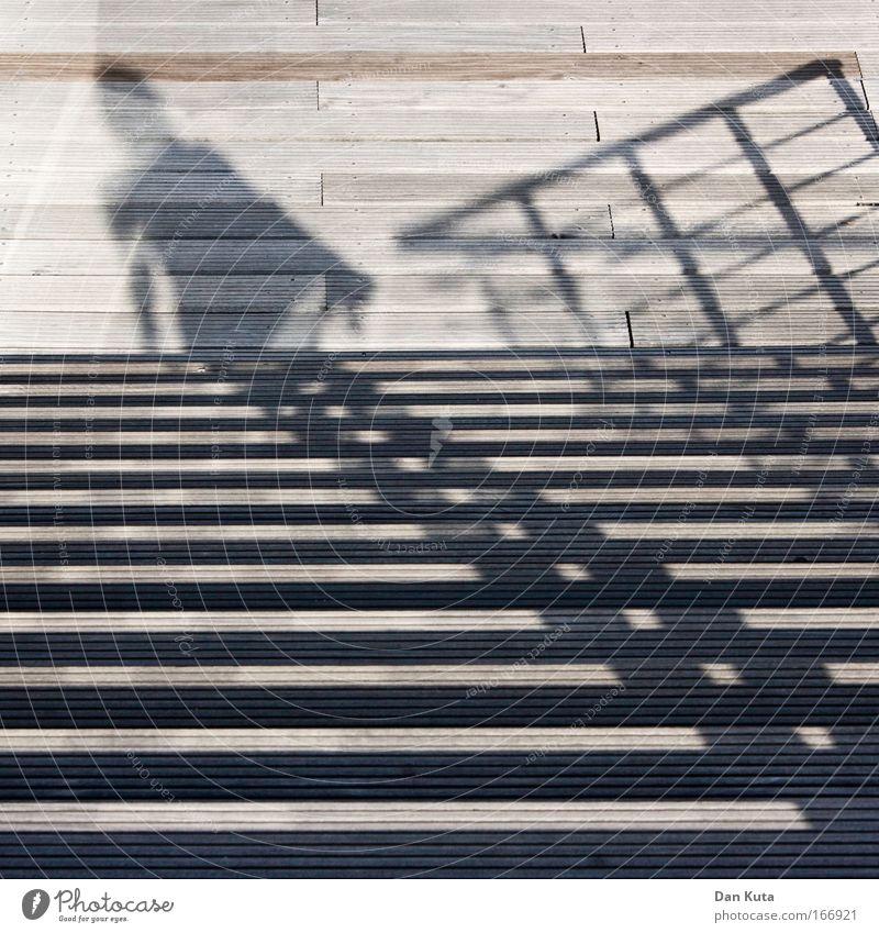 Treppauf, treppab Mensch Ferien & Urlaub & Reisen Sommer schwarz ruhig braun Zufriedenheit Kraft gehen Freizeit & Hobby Ausflug Treppe außergewöhnlich