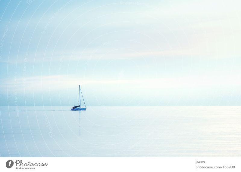 Wind.Stille Wasser Himmel Sonne Meer blau Sommer Ferien & Urlaub & Reisen ruhig Ferne Erholung Freiheit See Zufriedenheit Kraft Lifestyle Abenteuer