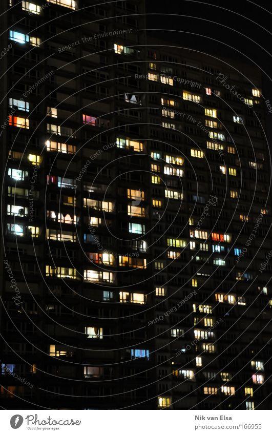 Nightlife Haus Fenster Architektur Gebäude Nacht Zusammensein Raum Wohnung Fassade groß Ordnung Hochhaus Häusliches Leben Turm Grafik u. Illustration Bauwerk