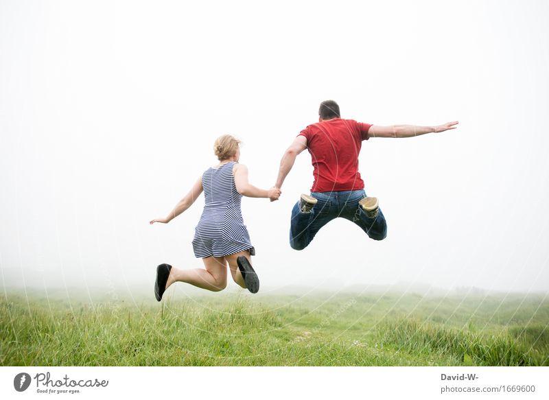 LEBEN~NEBEL Gesundheit Leben Ferien & Urlaub & Reisen Abenteuer Freiheit Mensch Frau Erwachsene Mann Freundschaft Paar Partner 2 Natur Nebel Feste & Feiern