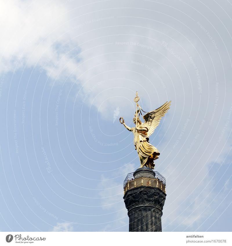 SIEGessäule Himmel Natur Ferien & Urlaub & Reisen Stadt Sommer Wolken Ferne Umwelt Berlin Kunst Freiheit Deutschland Tourismus gold Flügel Kultur