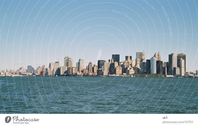 F District Wasser Meer Hochhaus New York City Blauer Himmel Singapore Financial District