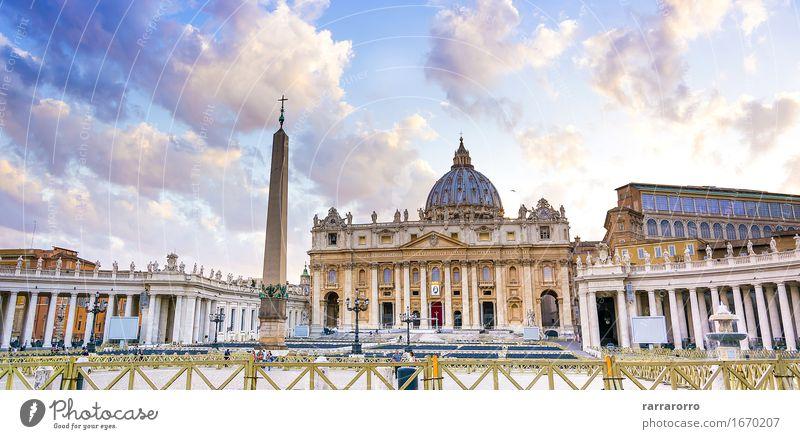 St. Peter-Kirche in der Vatikanstadt Ferien & Urlaub & Reisen Tourismus Himmel Kleinstadt Stadt Gebäude Architektur Fassade Denkmal alt Religion & Glaube M Rom