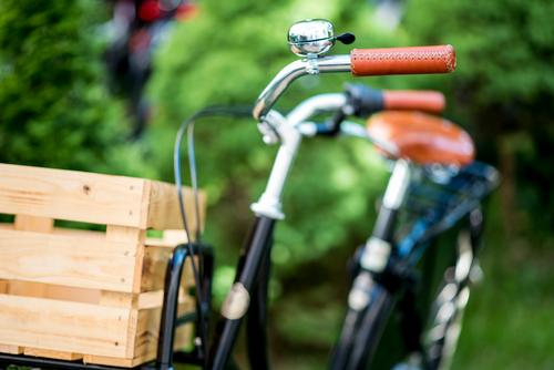 Hollandrad-Porn 2 Fahrradfahren ästhetisch trendy retro grün schwarz Mobilität nachhaltig Güterverkehr & Logistik hollandrad Transportfahrzeug Fahrradporn