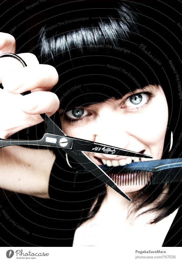 Haircut? Farbfoto Gedeckte Farben Innenaufnahme Detailaufnahme Kunstlicht Porträt Tierporträt Blick Blick in die Kamera Blick nach vorn Lifestyle Stil schön
