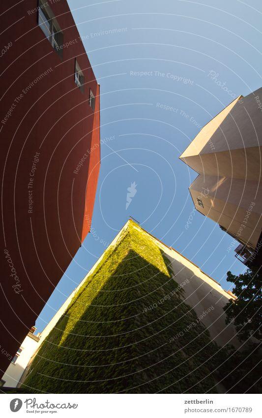 4 von 4 Architektur Berlin Deutschland Ferien & Urlaub & Reisen Froschperspektive Hauptstadt Haus Himmel Sommer Stadt Städtereise Tourismus Stadtleben Wohnhaus