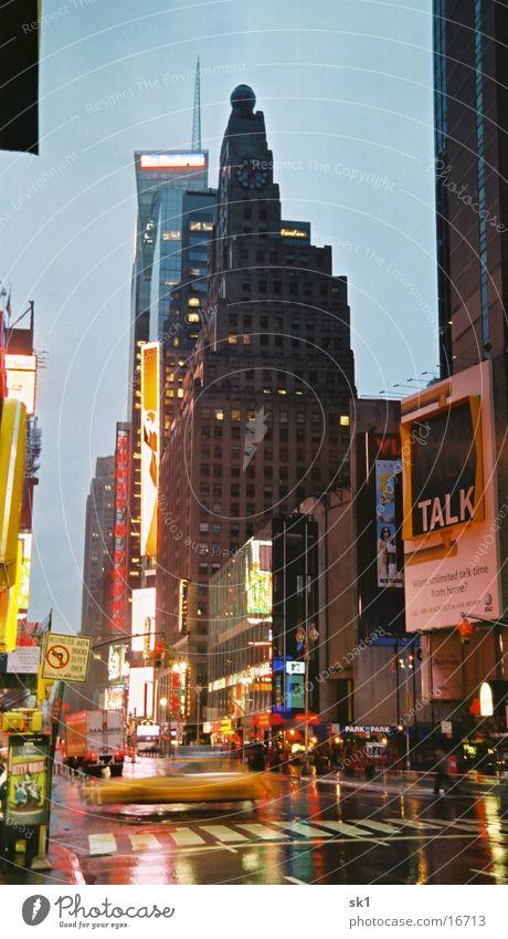 Rainy New York Regen nass Hochhaus New York City