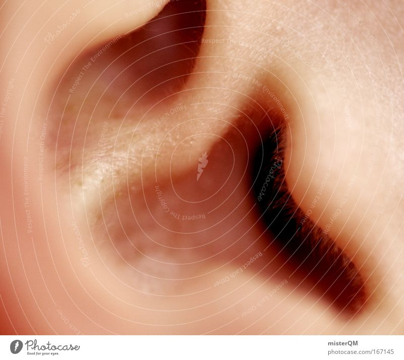 I Can Hear You. Mensch ruhig Musik Kultur Ohr Dorf Zeichen hören Kontrolle Diskjockey klug laut Musikfestival Jäger abstrakt Angebot