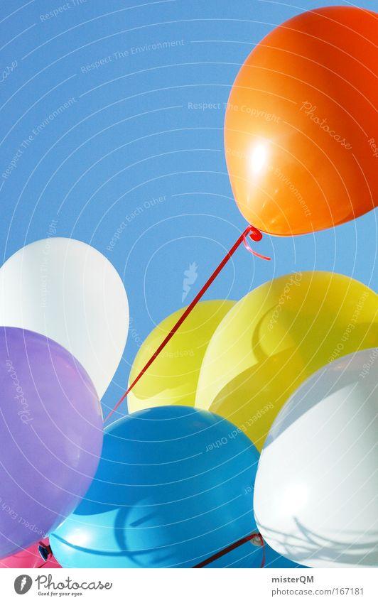 Ausreißer. Himmel rot Ferien & Urlaub & Reisen Freude Freiheit Party Luft Kindheit Wetter Feste & Feiern Horizont fliegen Luftverkehr verrückt Zukunft