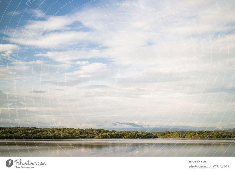 Bucht von Puntarenas, Costa Rica Flussufer blau grün Meer Küste Urwald Wolken Wolkenhimmel Wolkendecke Ferien & Urlaub & Reisen exotisch Farbfoto