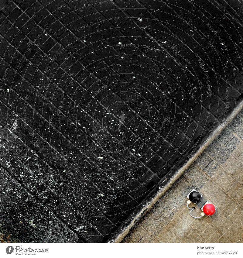 yes or no rot schwarz Farbe Wand Stein Mauer Design Energiewirtschaft außergewöhnlich Industrie Baustelle Technik & Technologie einzigartig Ende Fabrik
